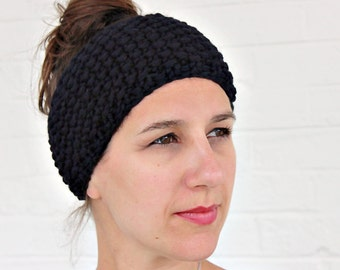 Messy Bun Ear Warmer, Messy Bun Headband, Yoga Wide Headband, Wide Yoga Headbands, Boho Headband Wide, Wide Headband Boho, Wide Headband