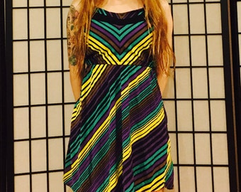 Retro Stripe Dress - X-Small