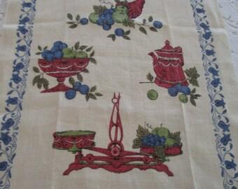 Vintage Kay Dee Tea Towel Unused, Vintage Linen Tea Towel, Kay Dee Linen Tea Towel, Tea Towels, Vintage Tea Towel