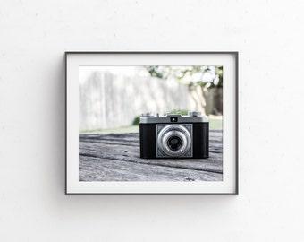 Vintage Camera Photo- Vintage Camera Print - Unique Old Camera Photo - Photo of Camera - Camera Decor - Photo Decor - See Print