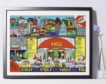 NBA Store Art Painting PSNY - Home Decor