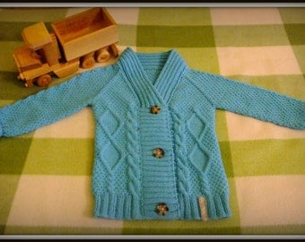 MADE TO ORDER /Hand-knitted toddler cardigan