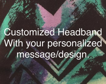 Running Headband ~Yoga Headband~ Workout Headband- personalized
