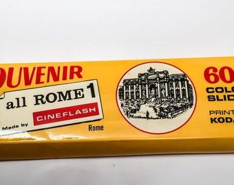 Vintage Souvenir ALL ROME 60 Color Slides Rome Italy Kodak