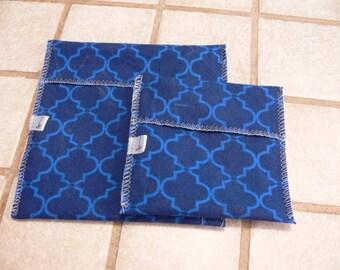 Ziploc bag reusable – ground blue on blue-bag waterproof-washable-eco-friendly environment-eco-reusable-