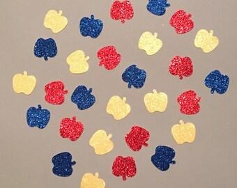 225 Princess Confetti Red Blue Yellow Confetti Snow Princess Confetti Glitter Confetti Birthday Confetti Birthday Girl Confetti