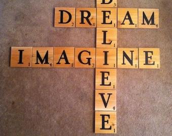 Scrabble wall tiles