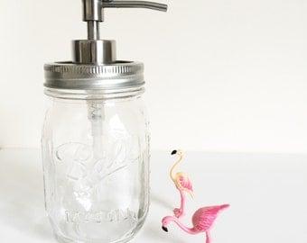 Ball mason jar soap pump, various colours. Soap dispenser, bathroom decor, uk seller.