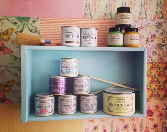 Shabby chic drawer shelf display