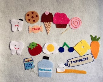 Tooth Brushing (Happy Tooth) Flannel Board Felt Board Story/Brush your Teeth/Children Story Felt set/Healthy Teeth/Hygiene/Teacher Resources