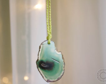 Jade and Lemongrass Pendant Necklace