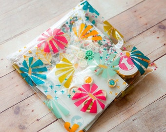 Spring Floral Zipper Pouch