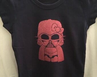 Girls Hello Kitty Darth T-shirt