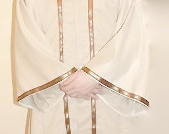 Ivory Robe with hood