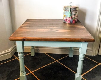SOLD - Shabby Chic Farmhouse Style Coffee Table / Side Table