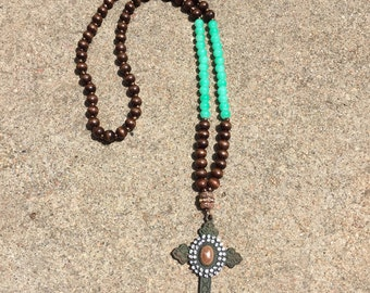 The Vintage Crystal Cross Necklace