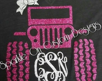 Glitter Monogram Geep shirt