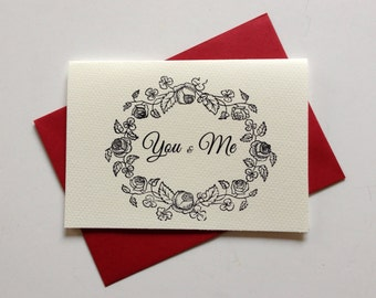 YOU & ME map red envelope