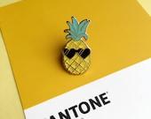 Pedro the Pineapple Lapel Pin | Cute enamel hat pin badge