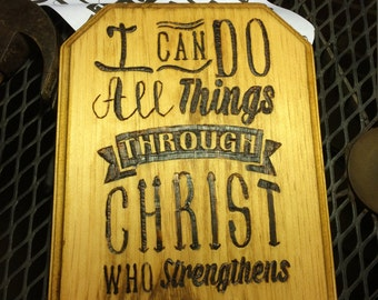 I can do all thing through Christ