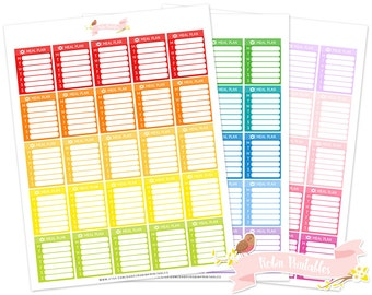 Weekly Meal Plan Printable Planner Stickers for Erin Condren Life Planner. Personal Use Full Box Functional Sticker Kit PDF Download