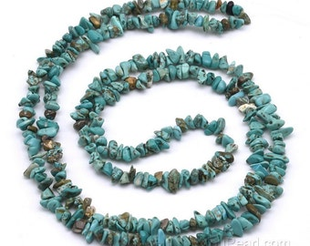 Turquoise beads, 3-6mm chip, natural gem stone, gemstone beads strand, loose turquoise stone beads for necklace making, TQS4007