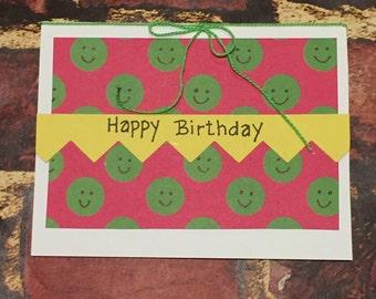 Happy Birthday, handmade birthday card from all of us