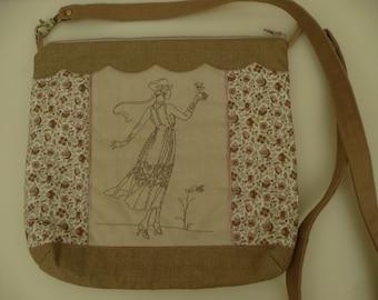 romantic beige handbag