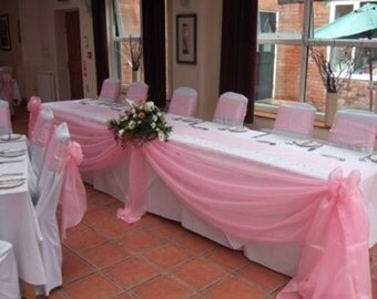 wedding top table swag choice of colours