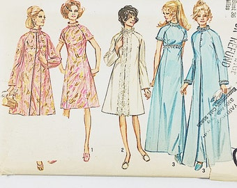 70s Evening Coat Pattern | Simplicity 9122 Misses Party  Dress & Coat Pattern | 70s Sewing Pattern