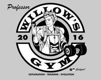 Professor Willow's Pogo Gym - Pokemon Go Men's Unisex T-Shirt - AR Pokemon Gaming Parody Clothing