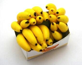 Banana Yellow Fruit Box Doll House Miniature 1:12 Pretty Nice Cute