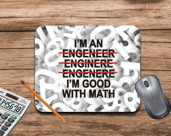 Mouse pad-Engineer gift-Gift for engineer-Engineer mouse pad-Mouse pad funny-Desk accessories-Chalkboard-Office supplies-Custom mouse pad