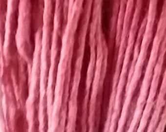 Wick yarn hand-spun dyed cochineal