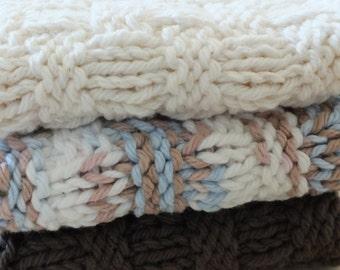 Dishcloths / Washcloths - Knit Set of 3