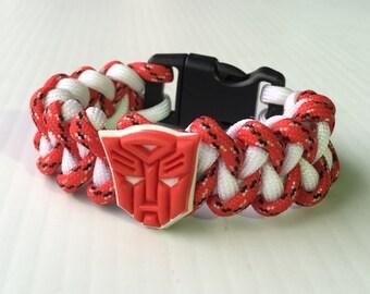Transformers Autobot paracord bracelet