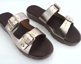 Sandal Unisex 100% handmade, with leather lining.
