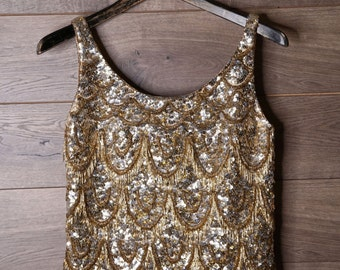 Great Gatsby Sequence blouse