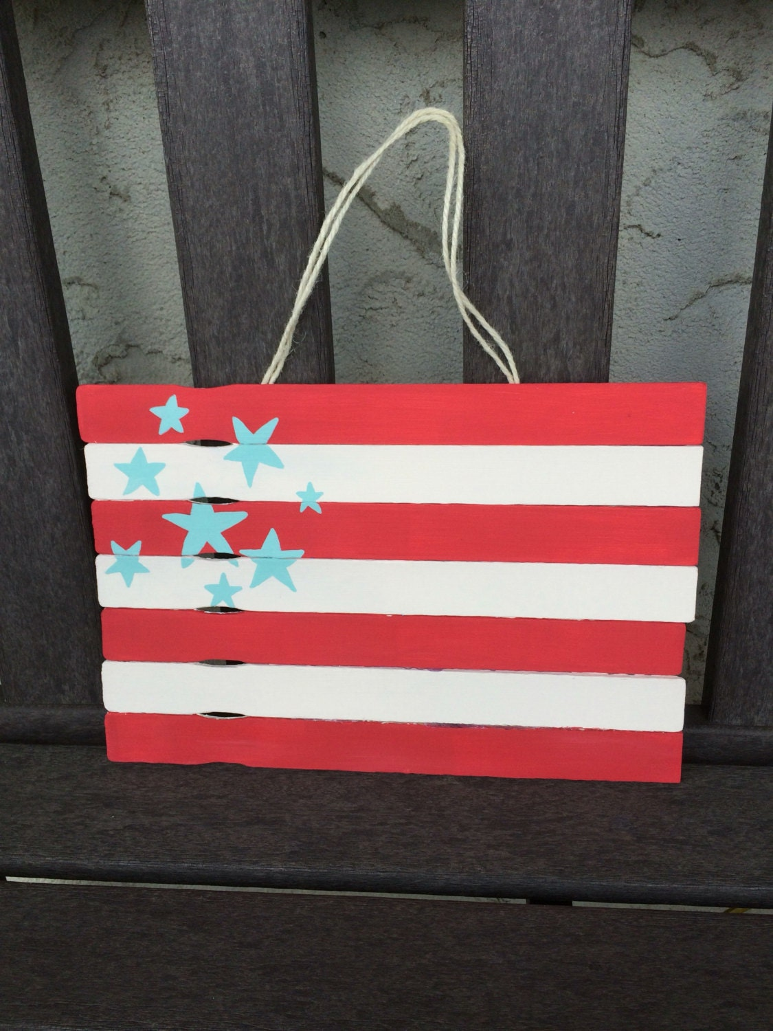 Hand painted stars and stripes wall decor by Stars and stripes home decor