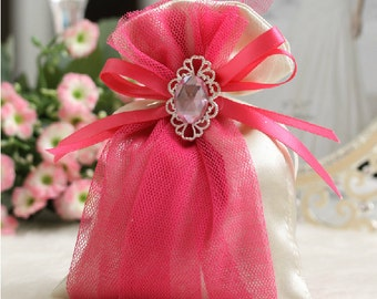 Silk Jewelled Bag