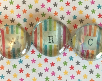 Monthly Glass Pebble Magnets