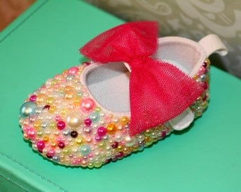 Blinged Outt Baby Maryjane Crib Shoes