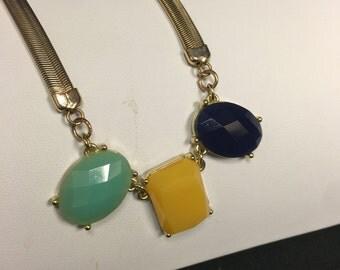 Large Lucite Jewel Necklace