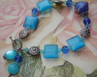 Azure Blue bracelet - Moranoglas - 21cm