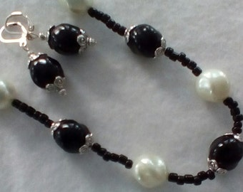 Simply Elegant Beaded Necklace and Earrings