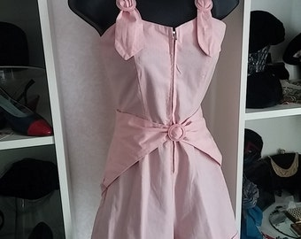 Vintage, 1940's, 1950's, Pink, Cotton, Sun suit, Romper, Playsuit