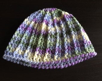 Crocheted Multi Easter Color Ski Cap