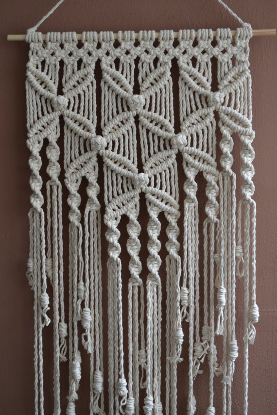 home decorative modern macrame wall hanging by mrcolmar on. Black Bedroom Furniture Sets. Home Design Ideas
