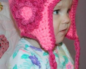 Pink Flowered Hat