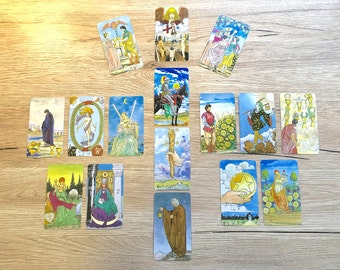 Relationship with YourSelf 16 Card Hand-written Tarot Reading - Snail Mail Tarot Reading